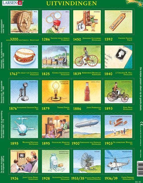 Larsen leerpuzzels - Uitvindingen