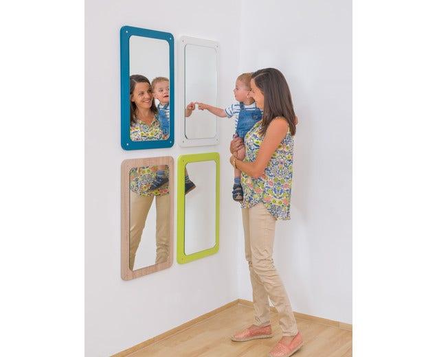 Spiegel met geronde hoeken