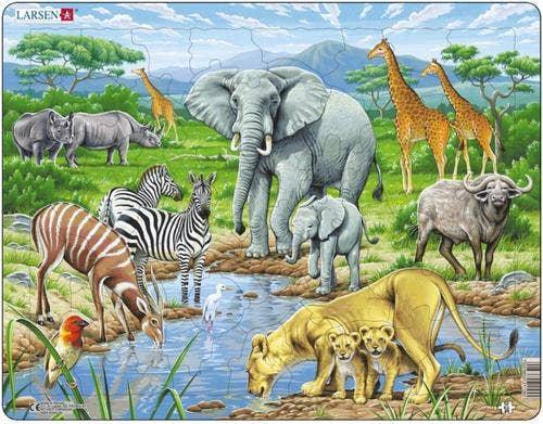 Larsen puzzel - Dieren op de savanne
