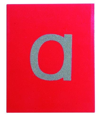 Kleine letters zandpapier