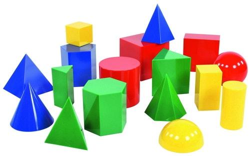 Geometrische massieve vormen (17 stuks - 10 cm hoog)