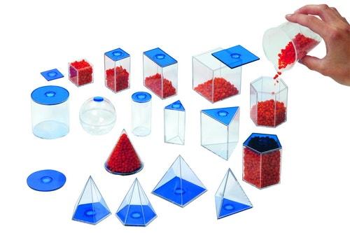 Geometrische  vormen (17 vormen tot 10 cm hoog)
