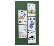 Magnetische winkelafrekenset voor demonstratie op het bord (met decimale euro bedragen)