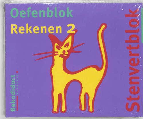 Stenvert oefenblok Gr 4 5 ex Rekenen