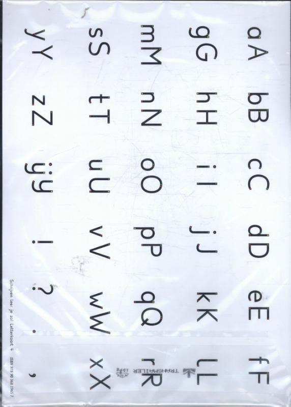 Schrijven leer je zo! Letterkaart 4 - set van 5 ex