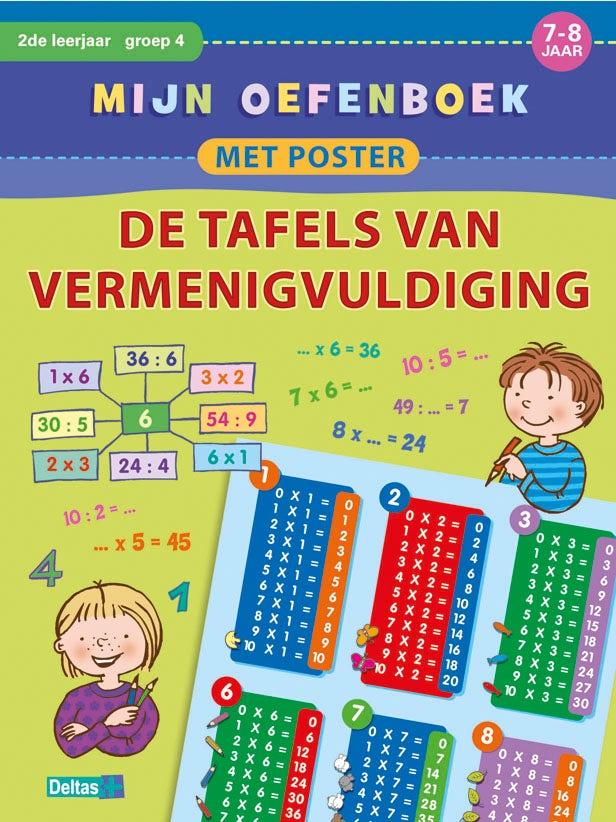 Mijn oefenboek met poster: De tafels van vermenigvuldiging