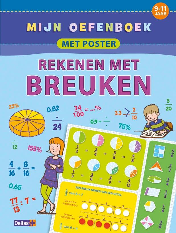 Mijn oefenboek met poster: rekenen met breuken