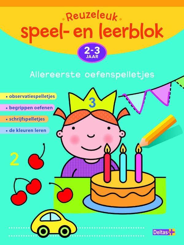 Reuzeleuk speel- en leerblok - Allereerste oefenspelletjes - (2-3 jr.)