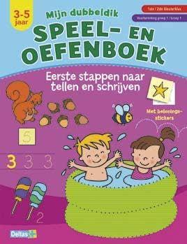 Mijn dubbeldik speel- en oefenboek - Eerste stappen naar tellen en schrijven - 3-5 jaar