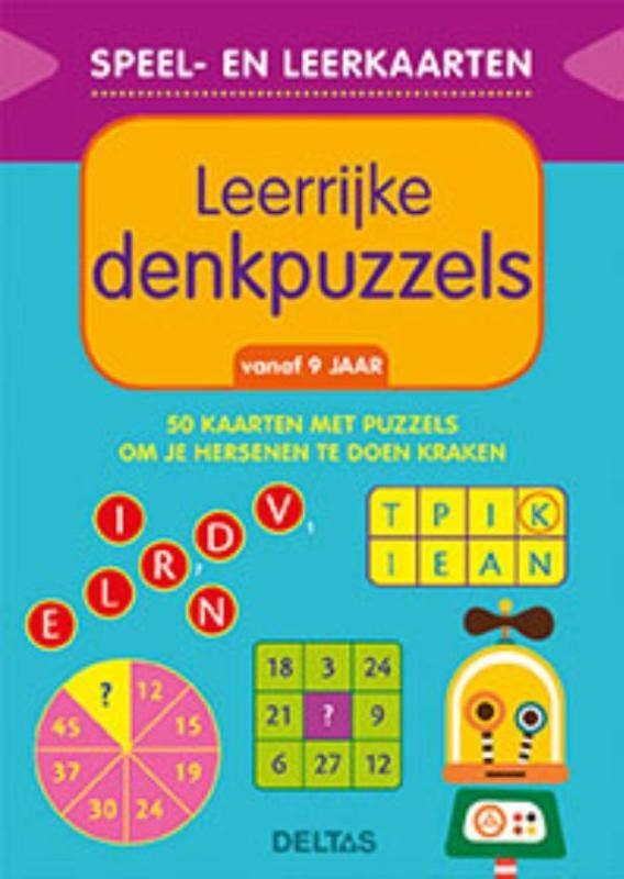 Speel- en leerkaarten - Leerrijke denkpuzzels - vanaf 9 jaar