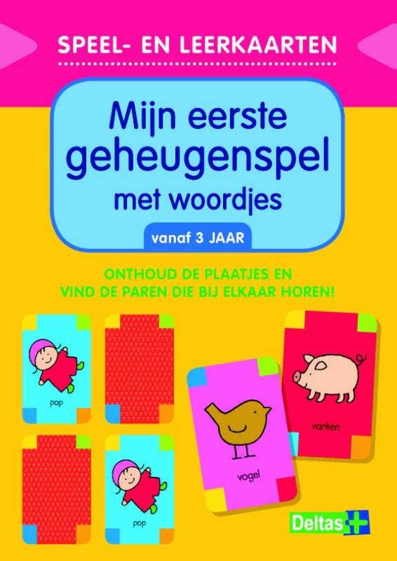Speel- en leerkaarten - Mijn eerste geheugenspel met woordjes (vanaf 3 jaar)