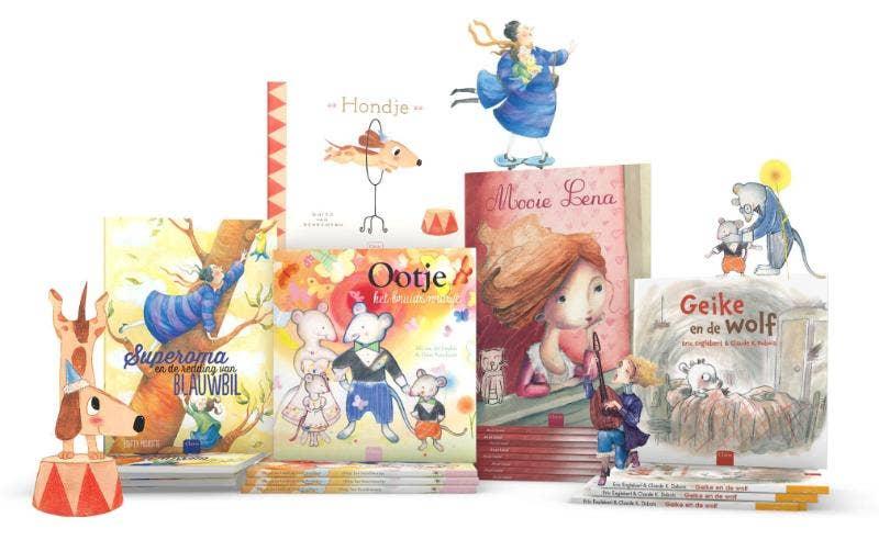 Explosienummer Cadeauboek prentenboeken (Superoma en de redding van Blauwbil+Mooie Lena+ Hondje + Geike en de wolf + Ootje het bruidsmeisje)