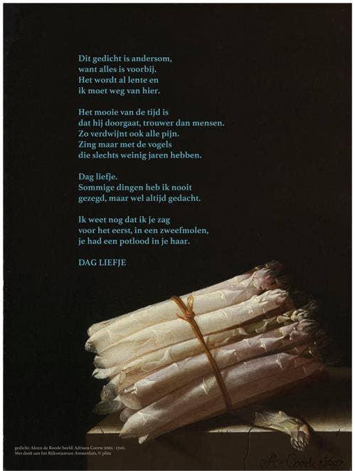 Set poëziekaarten Plint 'Dag liefje' van Alexis de Roode