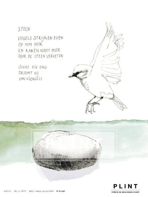 Plint poëzieposter 'Steen' Iris Le Rütte en Maartje van den Noort