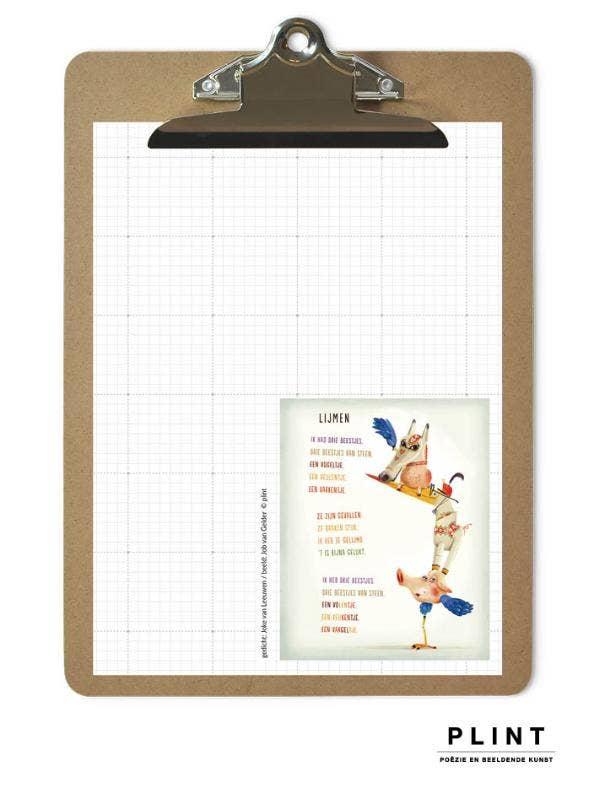 Plint stationery poëzieblok met klembord