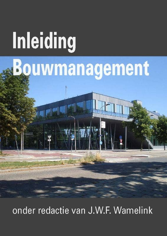 Inleiding Bouwmanagement (ebook)