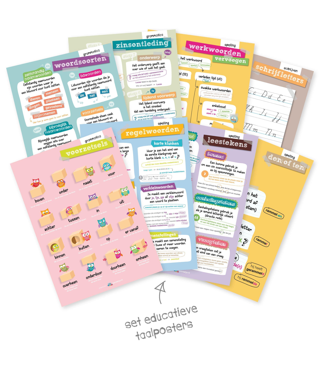 complete set taalposters (8 stuks)