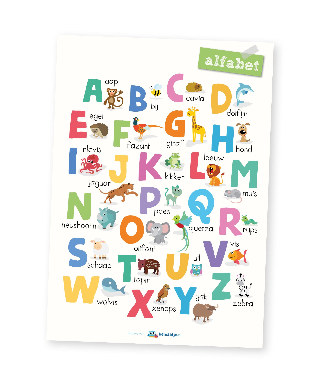 Poster kleuters - alfabet