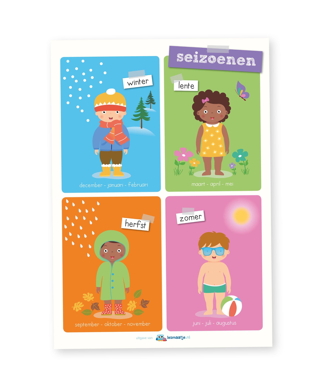 Poster kleuters - seizoenen