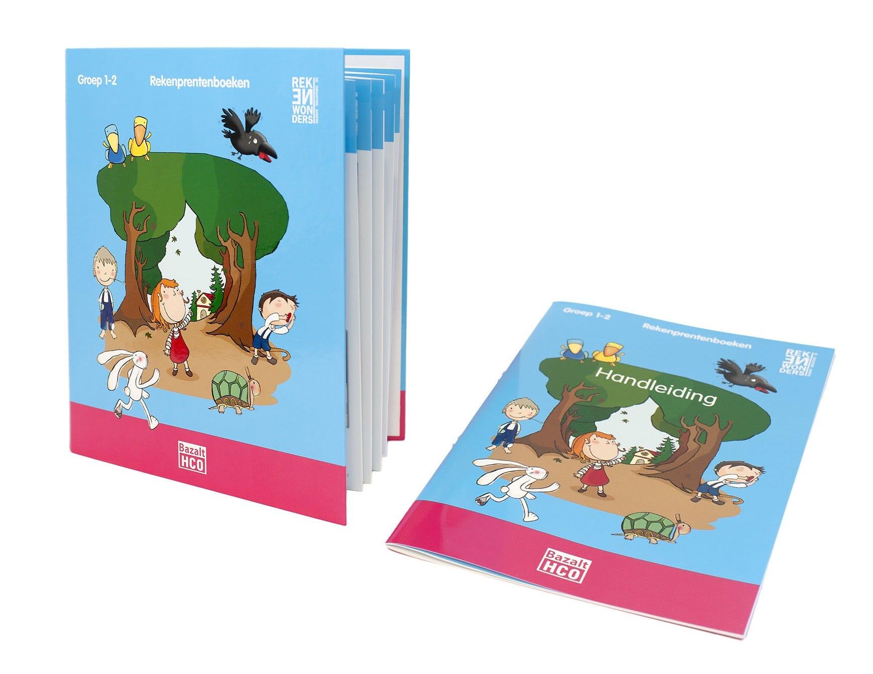 Rekenprentenboeken - Pakket 2 - Ringband + 6 activiteitenkaarten + handleiding