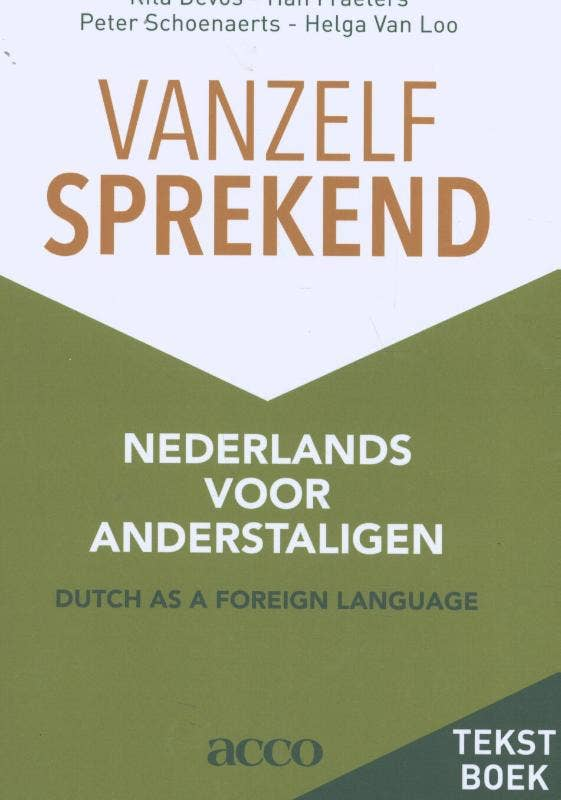 Vanzelfsprekend. Nederlands voor anderstaligen tekstboek