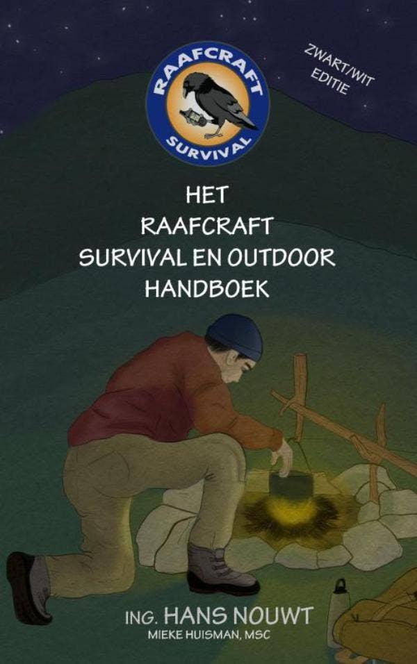 Het Raafcraft Survival en Outdoor Handboek - Zwart/wit editie