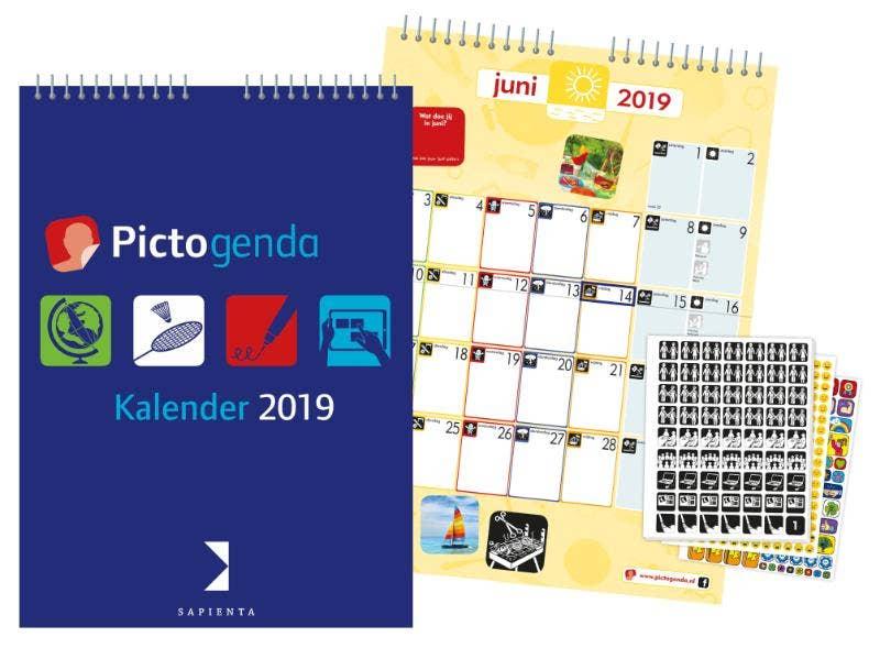 Pictogenda kalender 2019 NL