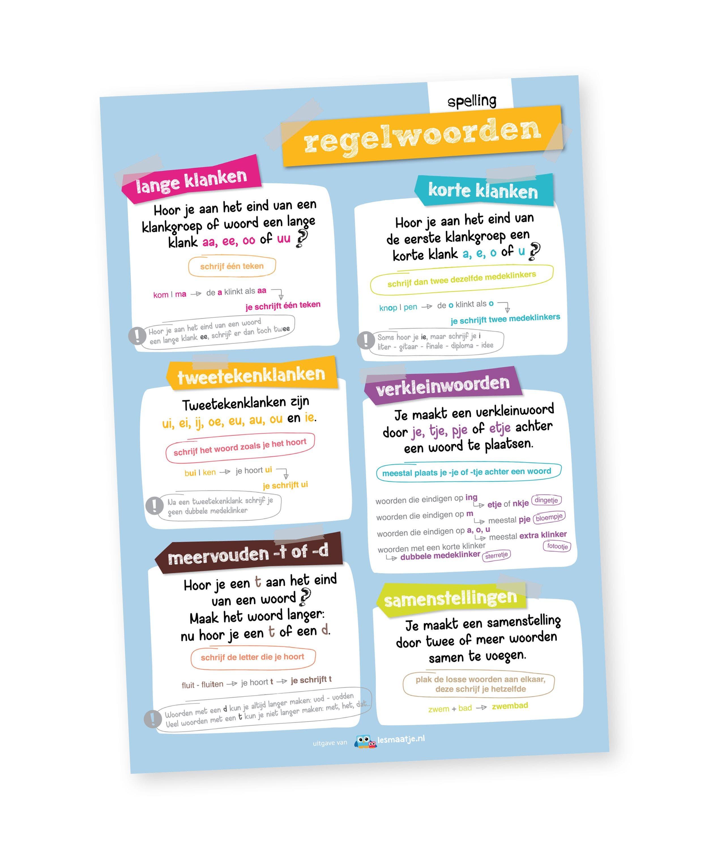 Poster taal - regelwoorden