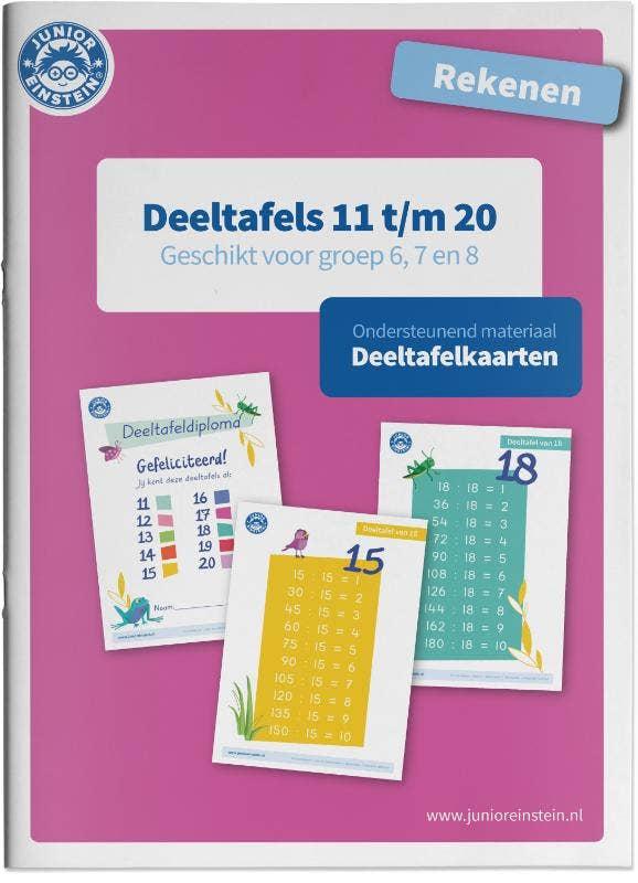 Deeltafels 11 tot en met 20 Geschikt voor de groepen 6; 7 en 8