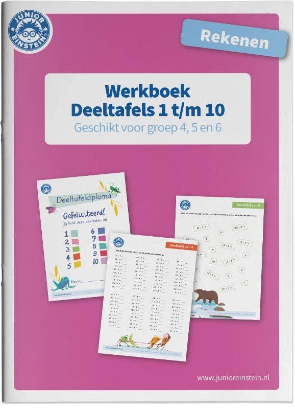 Deeltafels 1 t/m 10 rekenen geschikt voor groep 4; 5 en 6 Werkboek