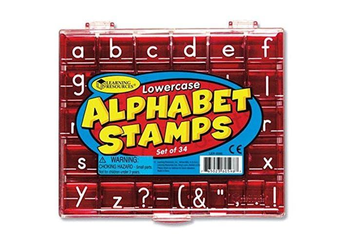 Alfabet stempels Kleine letters