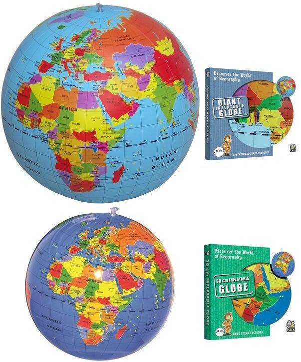 Opblaasbare wereldbol (groot en klein)