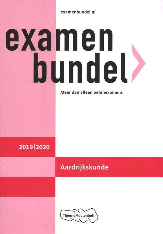 Examenbundel VWO Aardrijkskunde