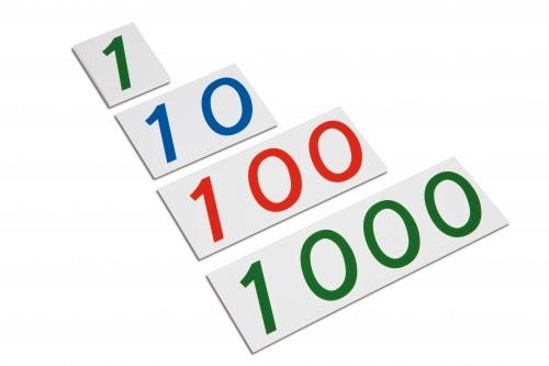 Kunststof getalkaarten 1-1000 groot