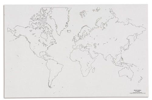 Werkbladen Wereld (50 vel)