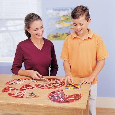 Het pizza breukenspel