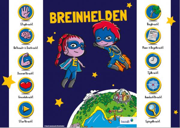 Poster Breinhelden groep 1-2 (gevouwen, set van 5)