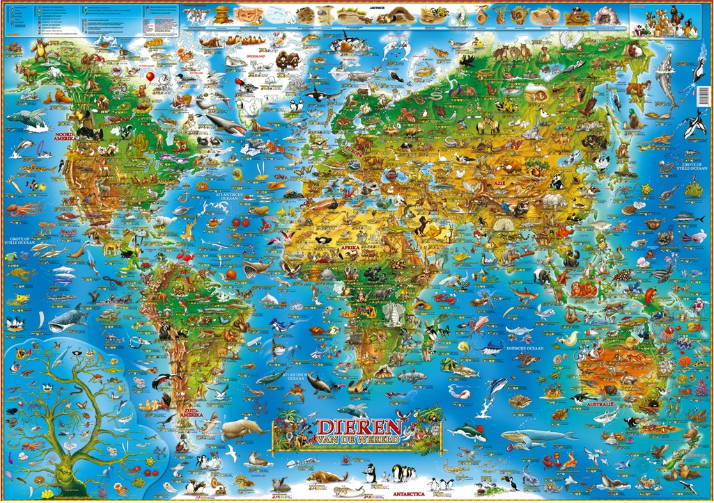 Poster Dieren van de wereld