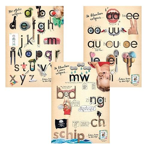 Posters Letters leren is een eitje!