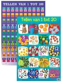 Set van 2 posters: Tellen van 1 tot 20 + Tellen van 1 tot 100