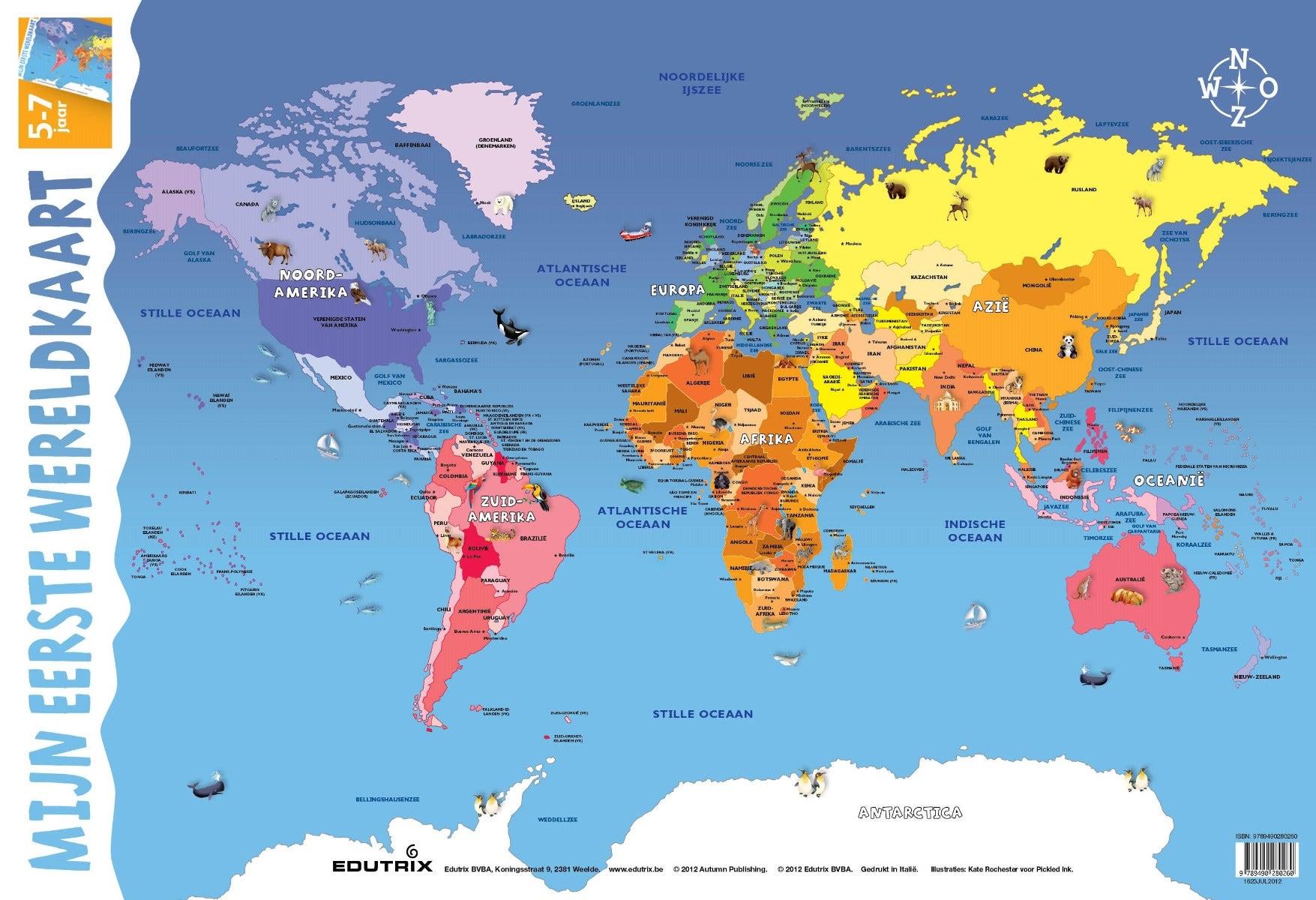 poster mijn eerste wereldkaart