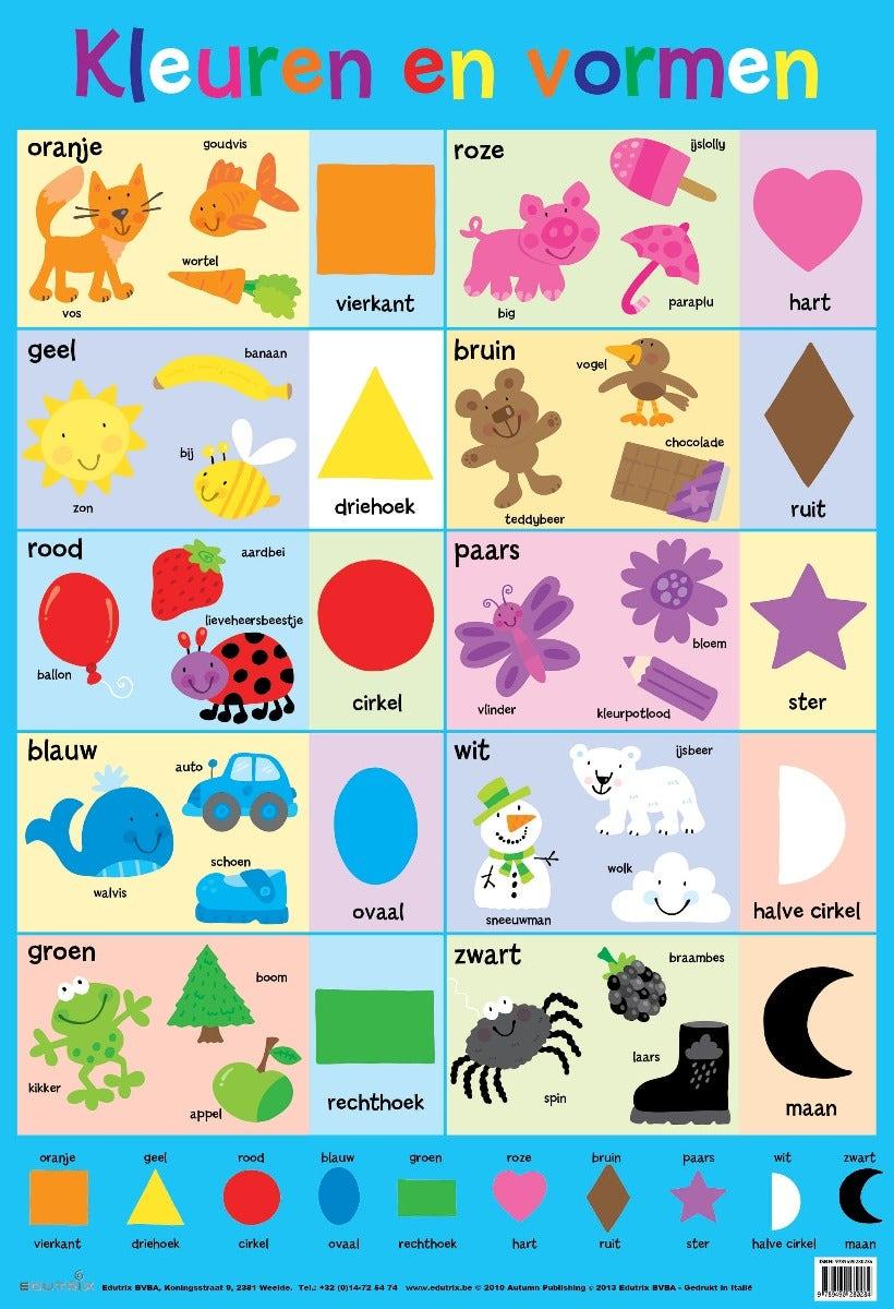 Poster Kleuren en vormen - Edutrix