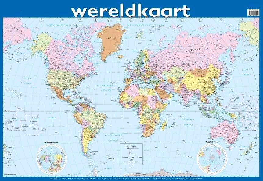 Poster Wereldkaart - Edutrix