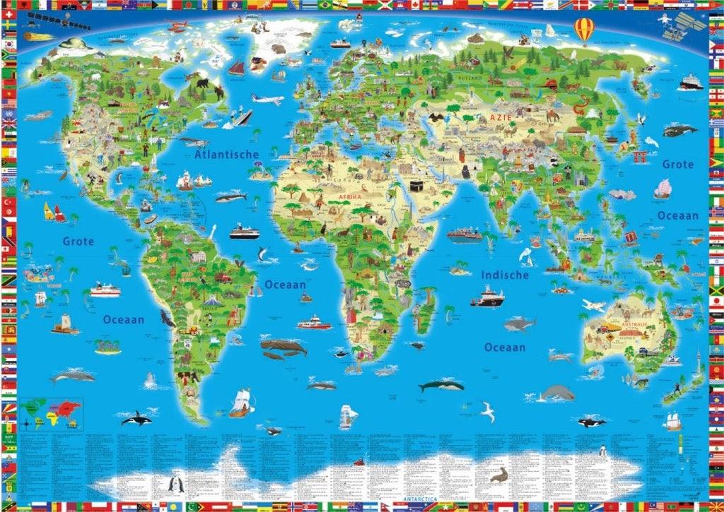 Wereldkaart voor kinderen